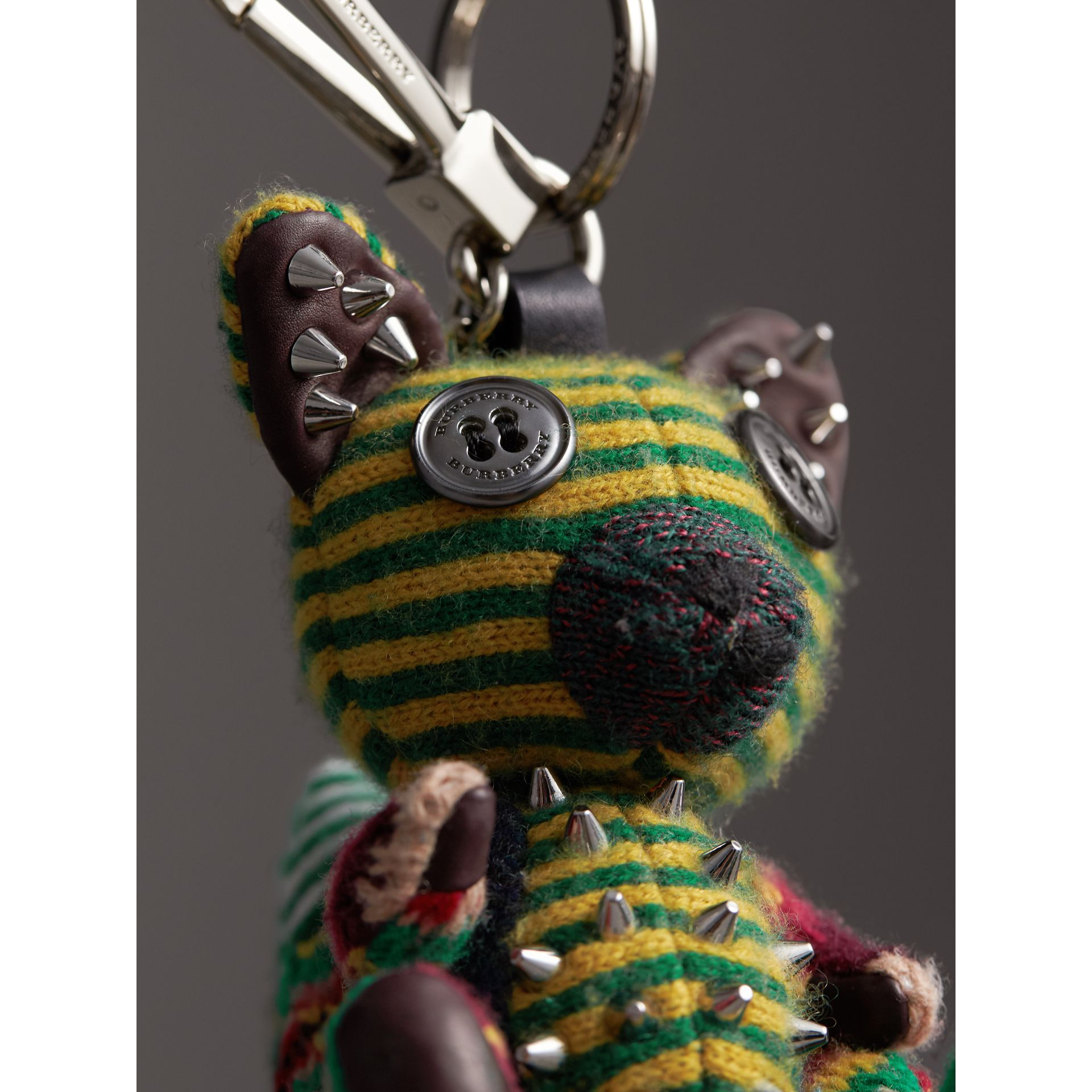 Dave The Fox Cashmere Charm in Green | Burberry United States - gallery image 1