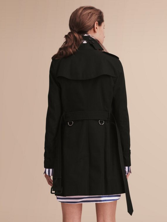 The Kensington – Mid-Length Heritage Trench Coat in Black - cell image 2
