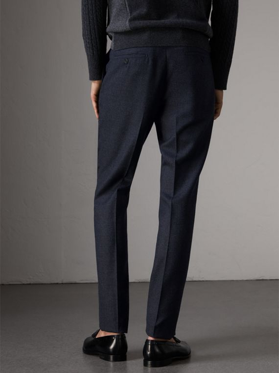 Wool Tailored Trousers in Navy - Men | Burberry - cell image 2