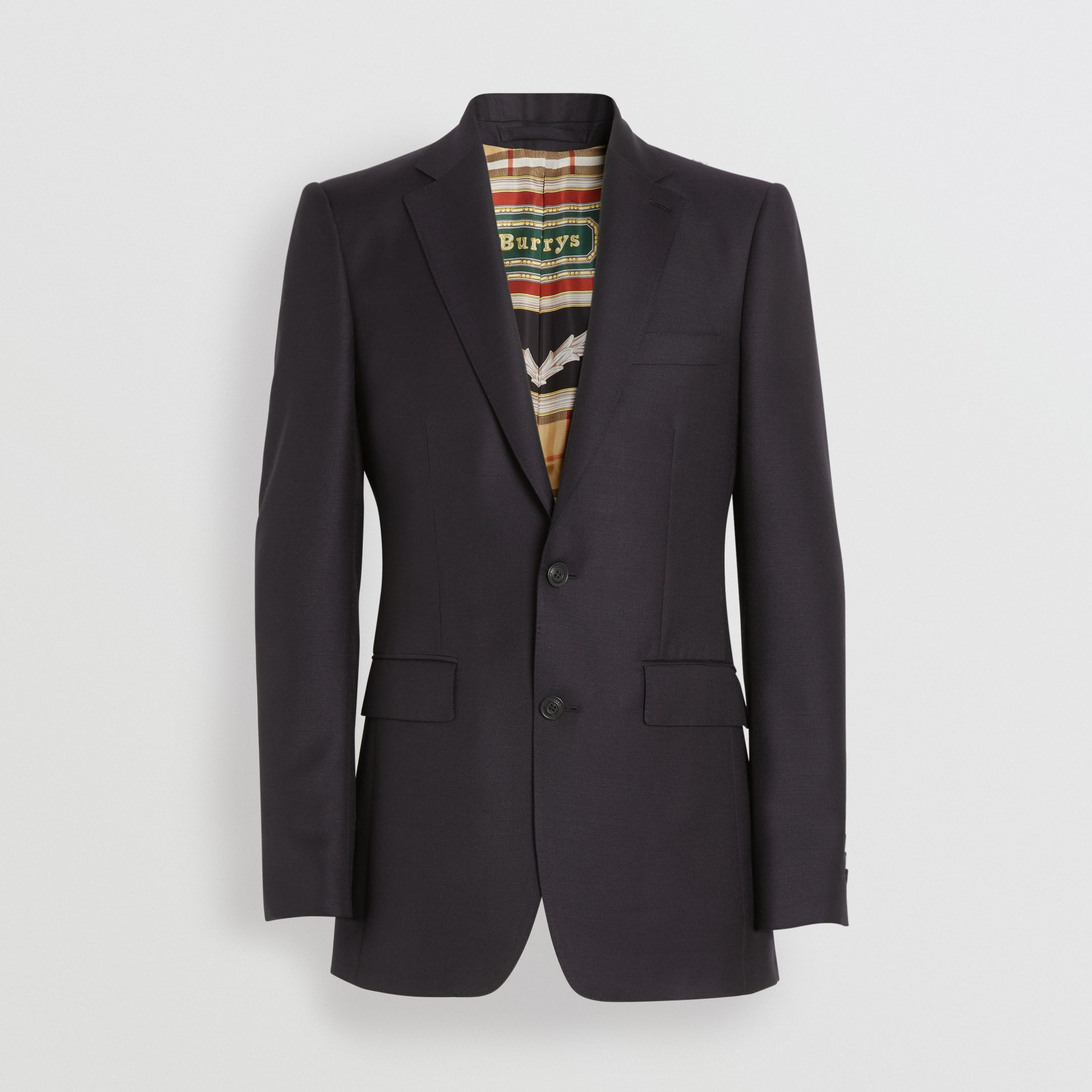Slim Fit Wool Mohair Tailored Jacket in Black - Men | Burberry - gallery image 2