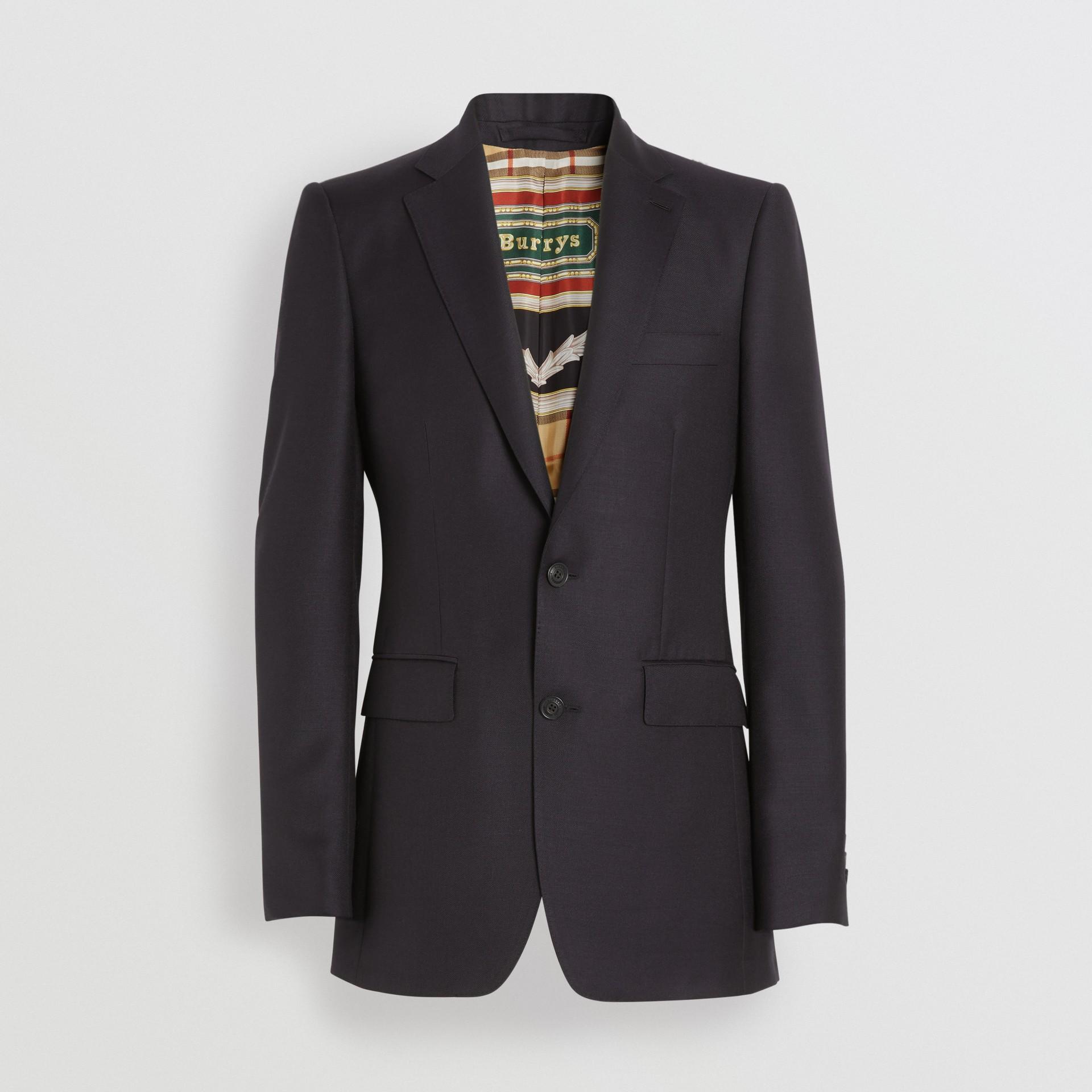 Giacca sartoriale sfiancata in lana e mohair (Nero) - Uomo | Burberry - immagine della galleria 2