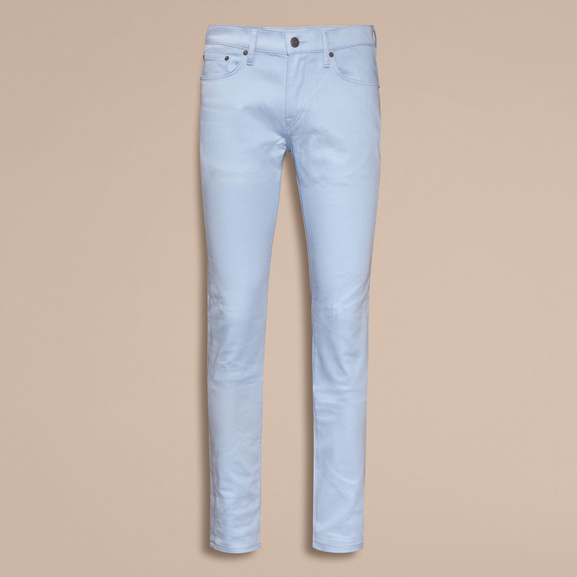 Light blue Slim Fit Japanese Stretch Denim Jeans Light Blue - gallery image 4