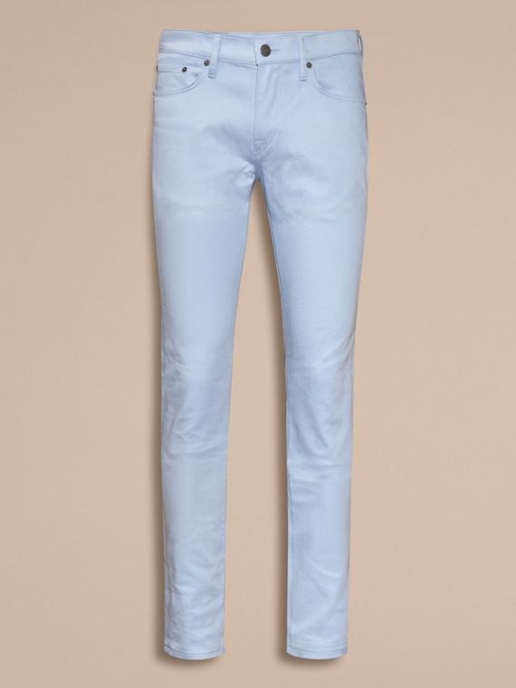 Light blue Slim Fit Japanese Stretch Denim Jeans Light Blue - cell image 3