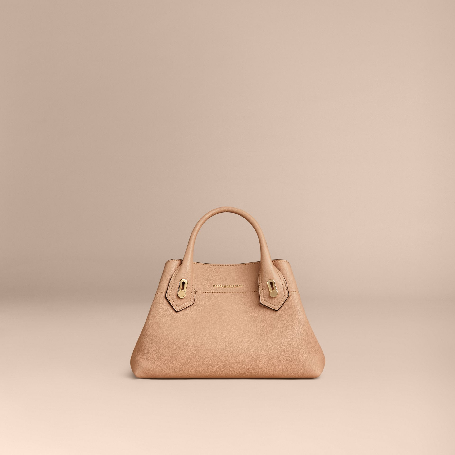 Pale apricot The Small Milton in Grainy Leather Pale Apricot - gallery image 6