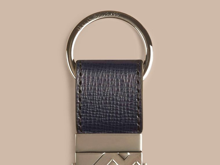 Dark navy London Leather Valet Key Ring Dark Navy - cell image 1
