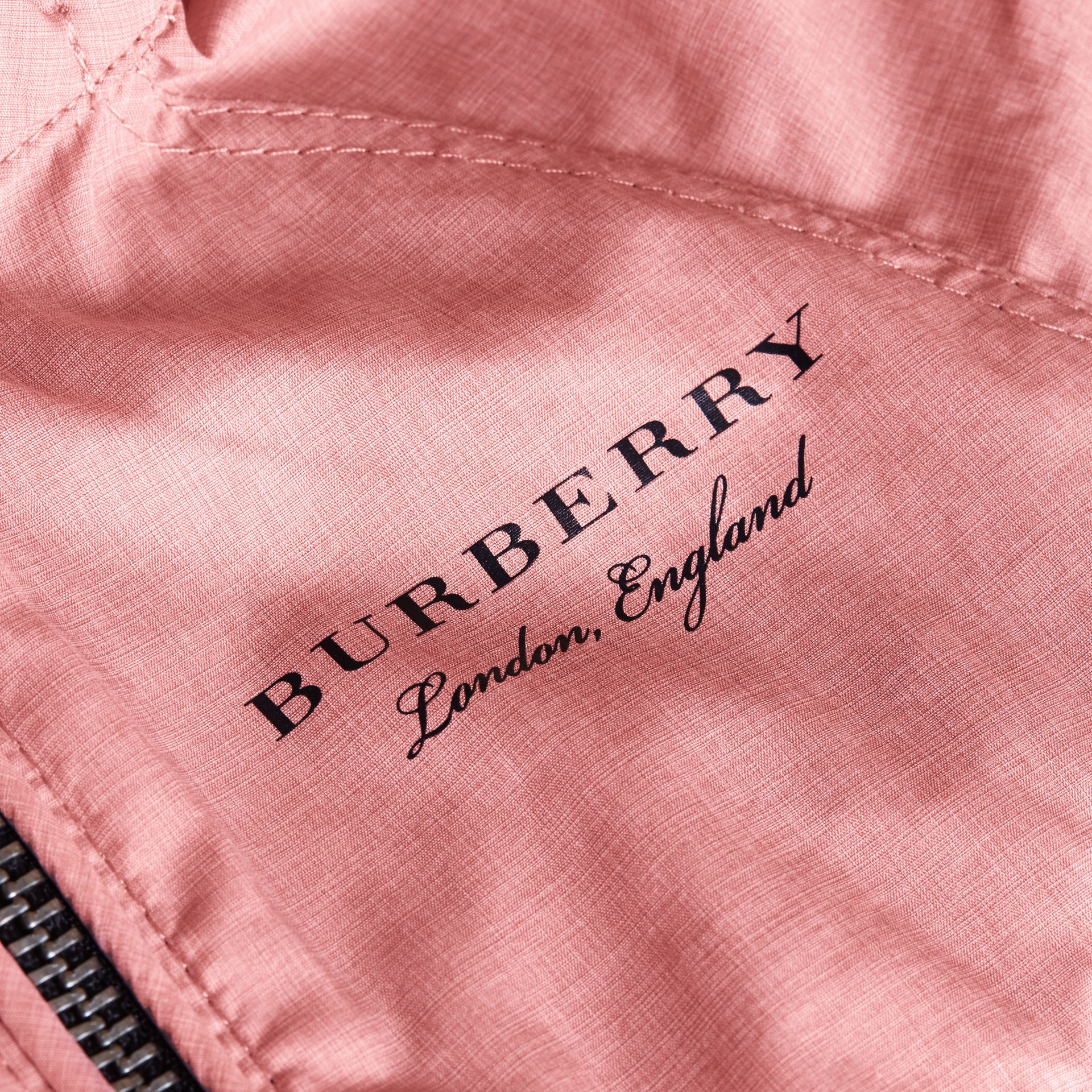 Showerproof Hooded Jacket Rose Pink - gallery image 2