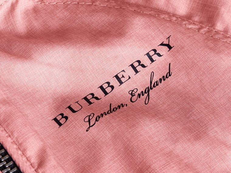 Showerproof Hooded Jacket in Rose Pink | Burberry - cell image 1
