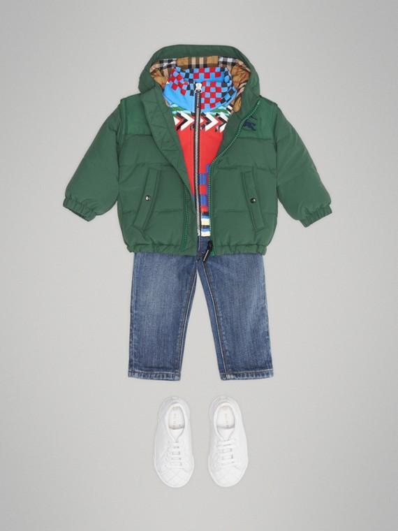 Пуховая куртка с капюшоном (Нефритовый Зеленый)
