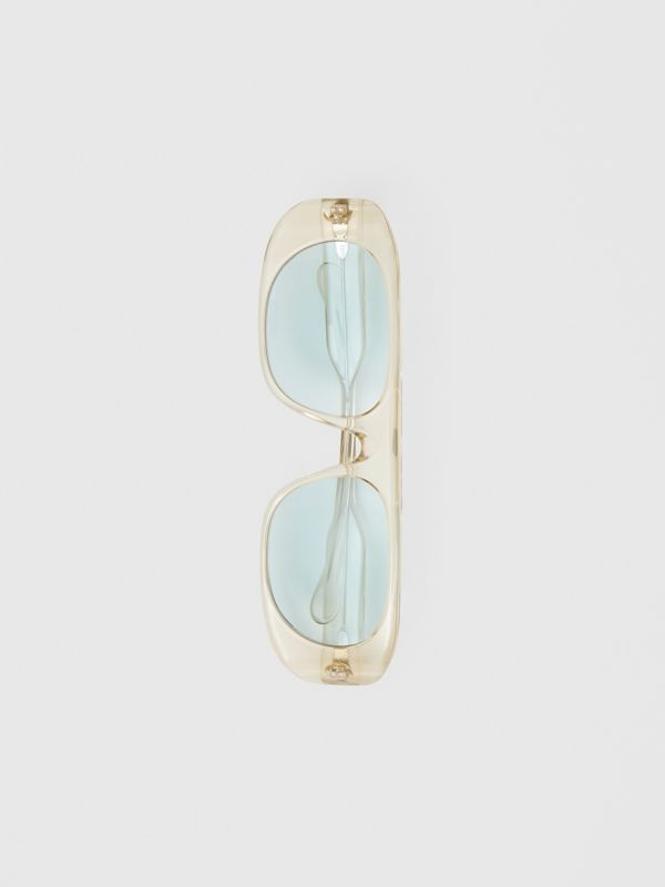 Blake Sunglasses in Transparent Champagne | Burberry United Kingdom - cell image 3