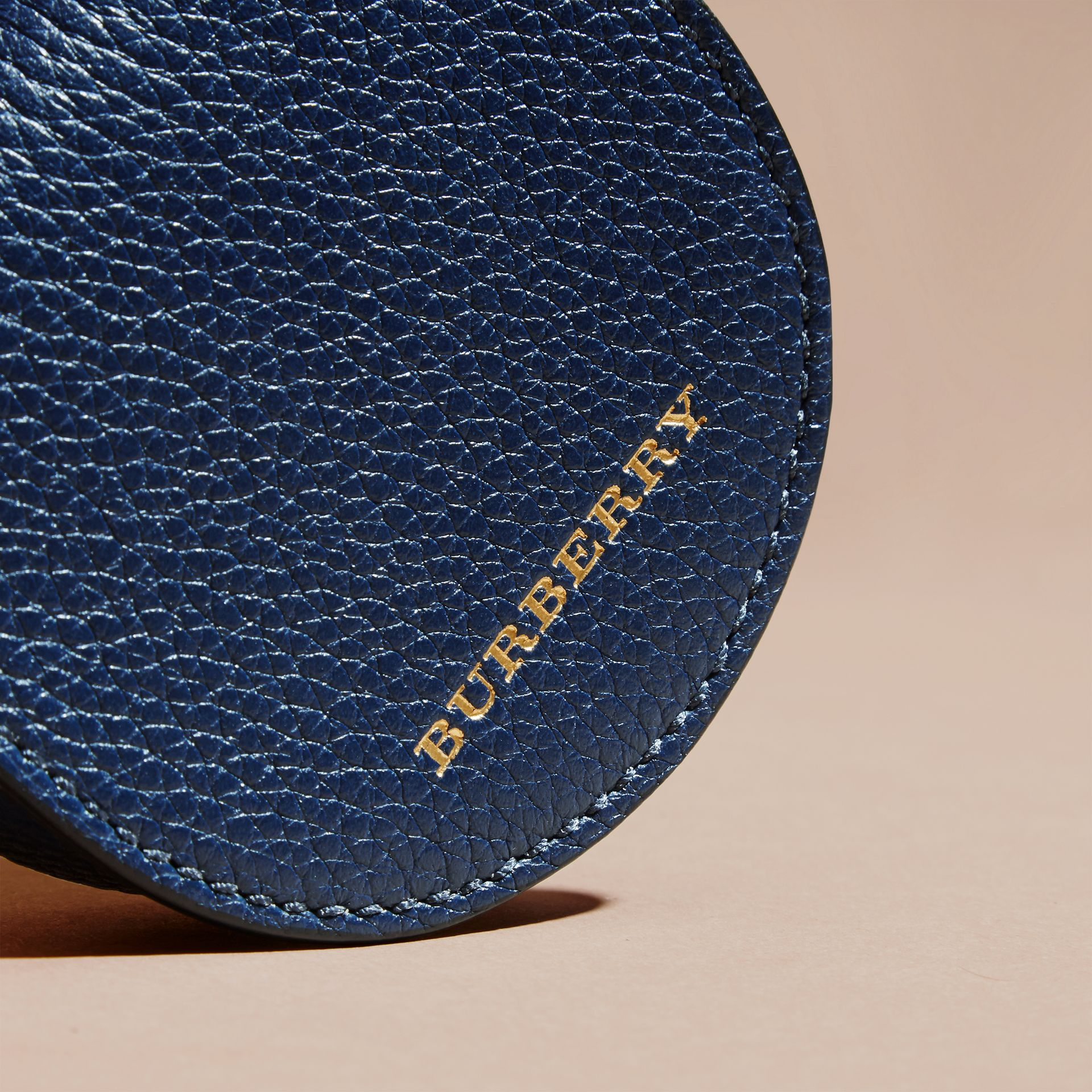 Bright navy Grainy Leather Coin Case Bright Navy - gallery image 2