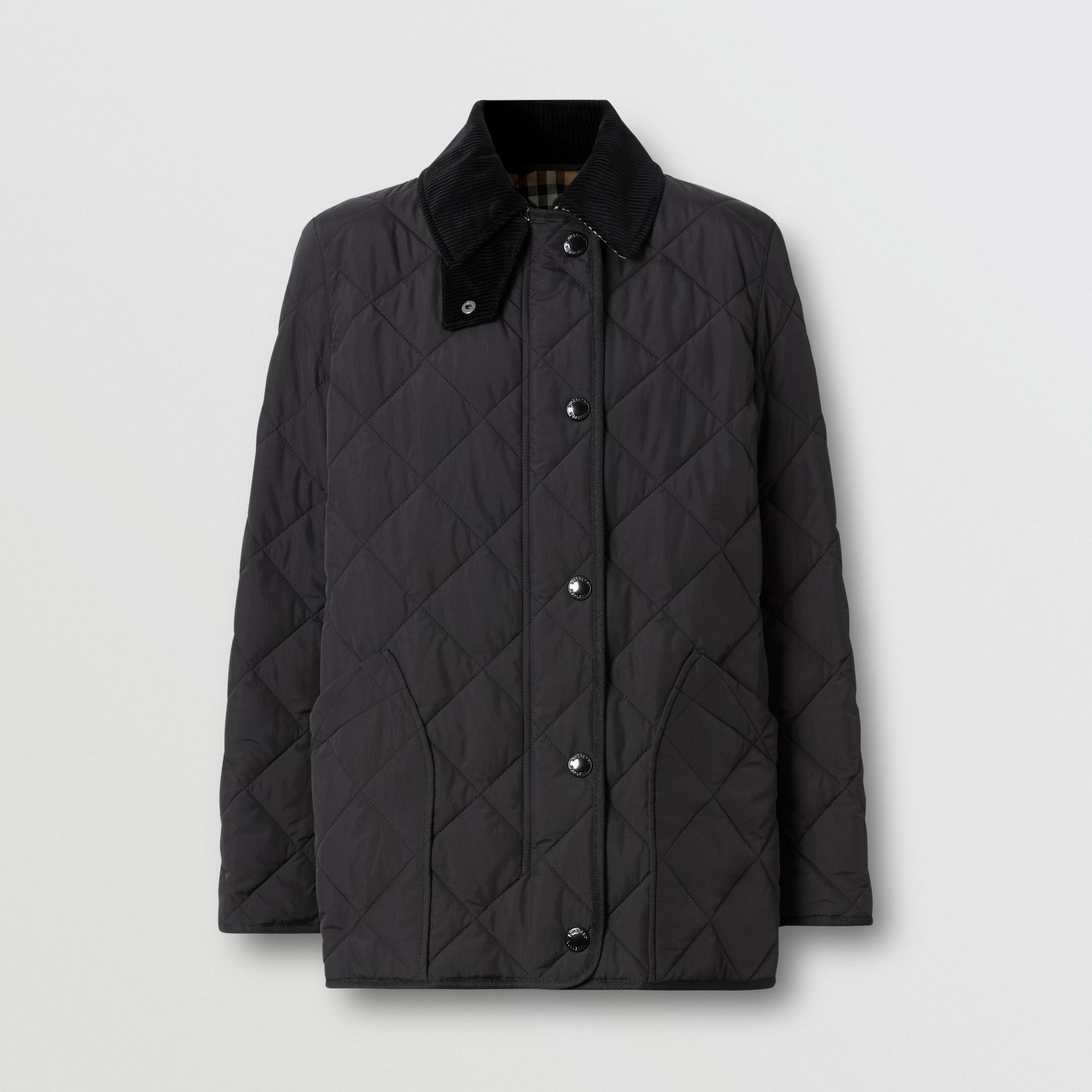 Diamond Quilted Thermoregulated Barn Jacket in Black - Women | Burberry United Kingdom - gallery image 3
