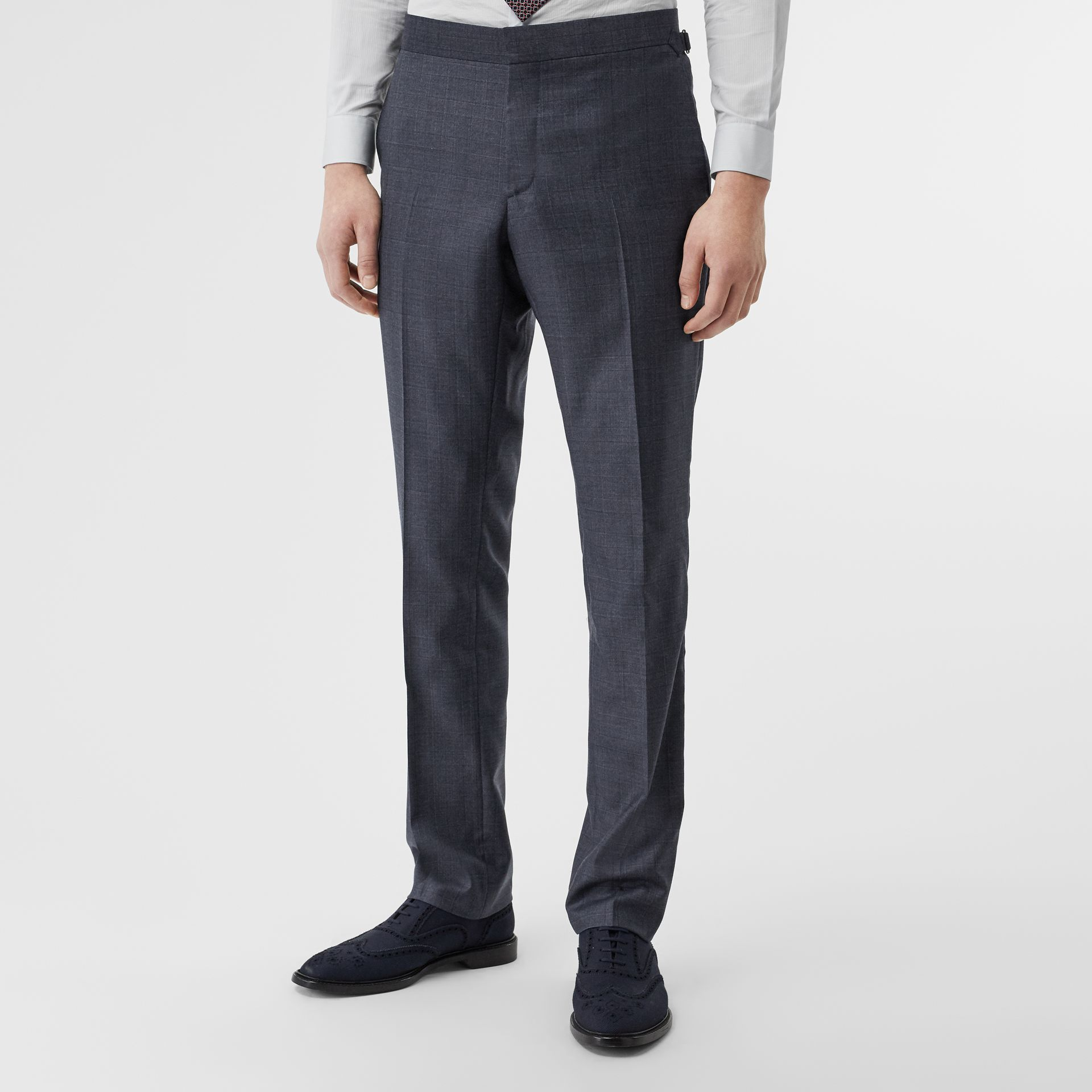 Classic Fit Check Wool Three-piece Suit in Steel Blue - Men | Burberry Australia - gallery image 6
