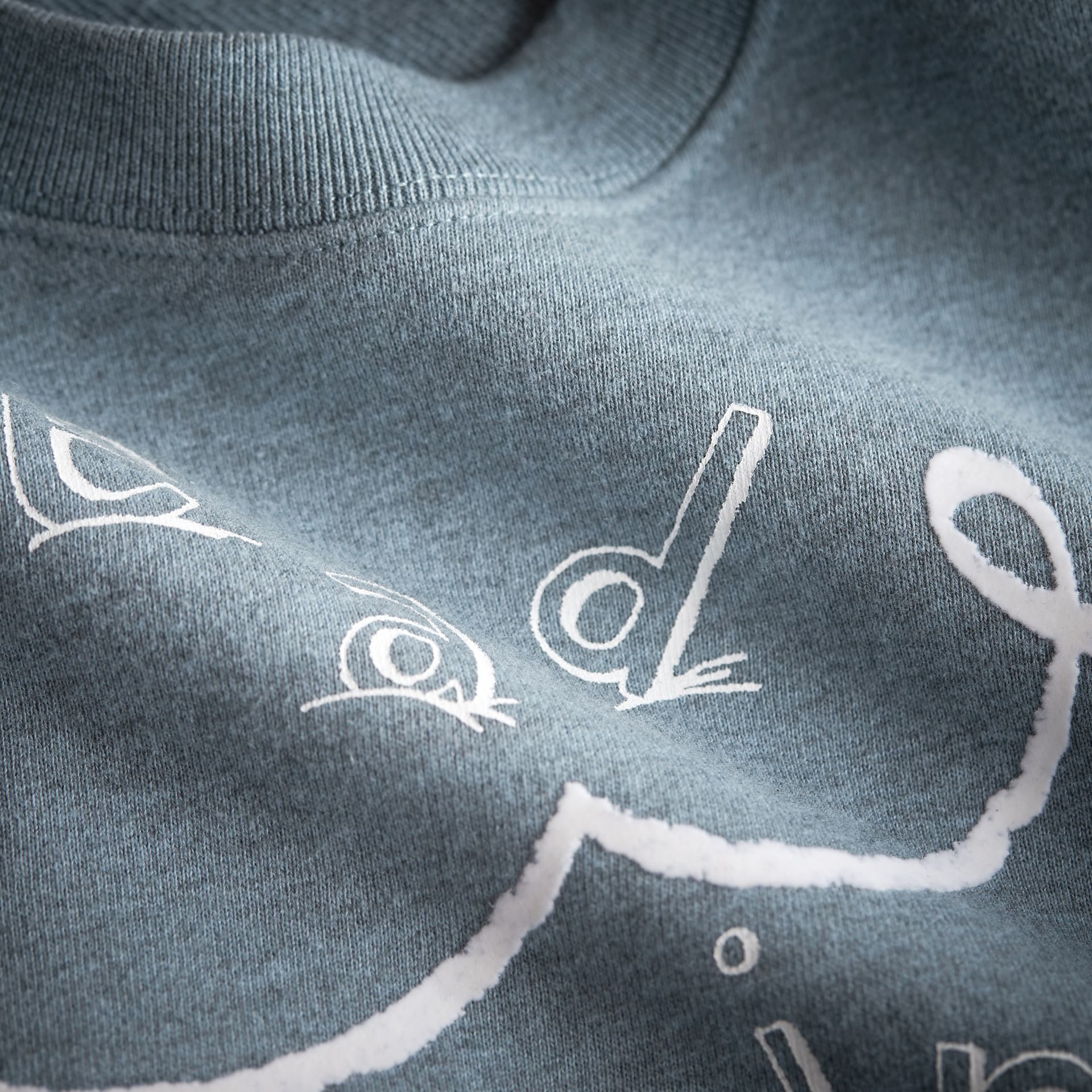 Head in the Clouds Print Cotton Sweatshirt in Powder Blue - Girl | Burberry - gallery image 2