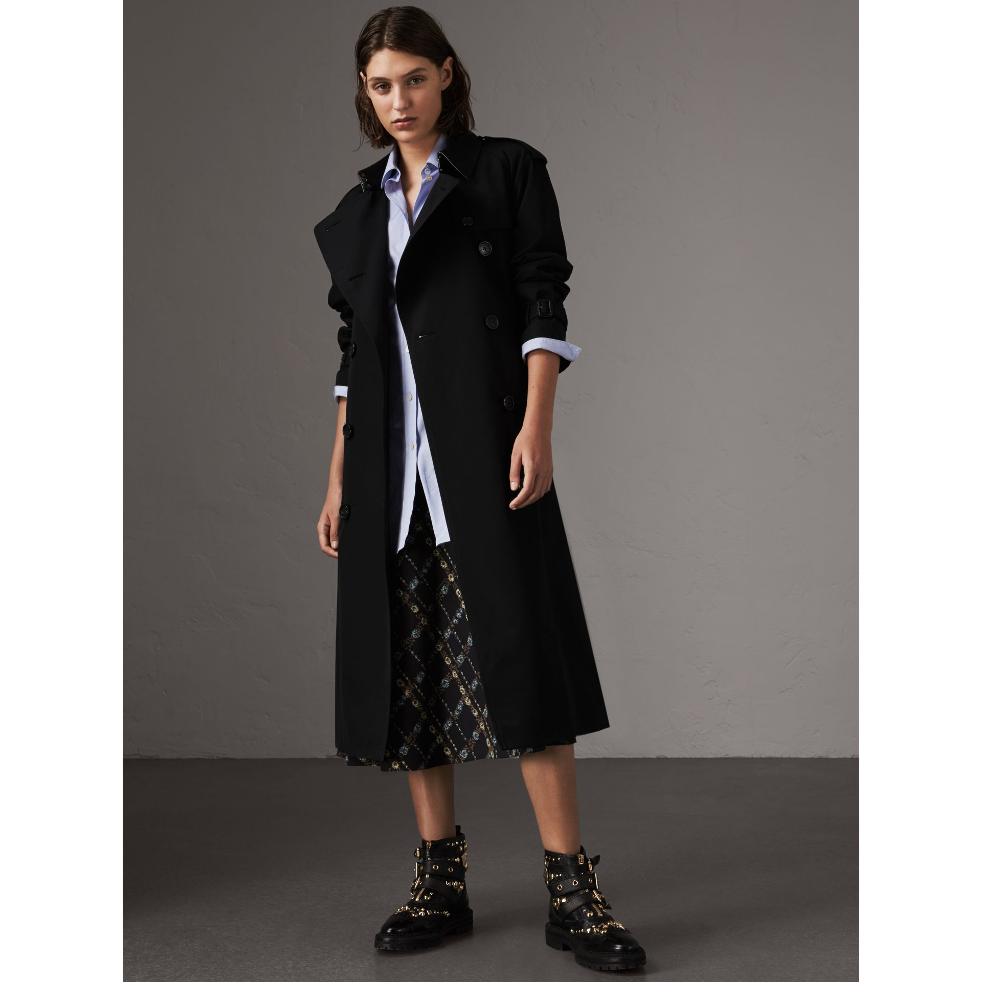 The Westminster – Extra-long Trench Coat in Black - Women | Burberry United Kingdom - gallery image 1