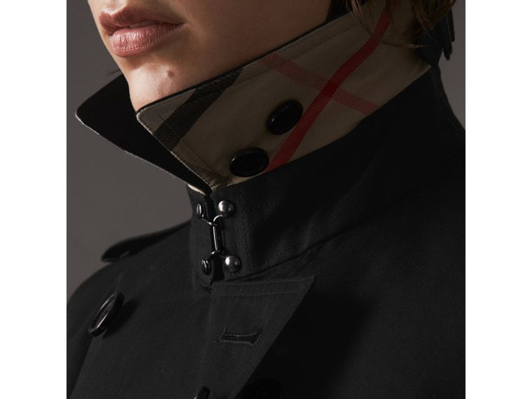 The Kensington - Trench coat Heritage extra lungo (Nero) - Donna | Burberry - cell image 1