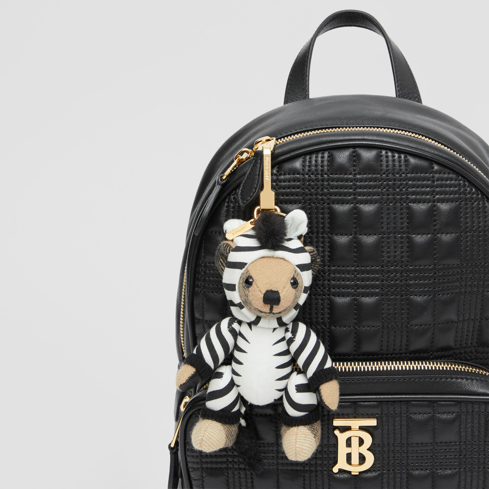 Thomas Bear Charm in Zebra Costume in Archive Beige - Women | Burberry - gallery image 4