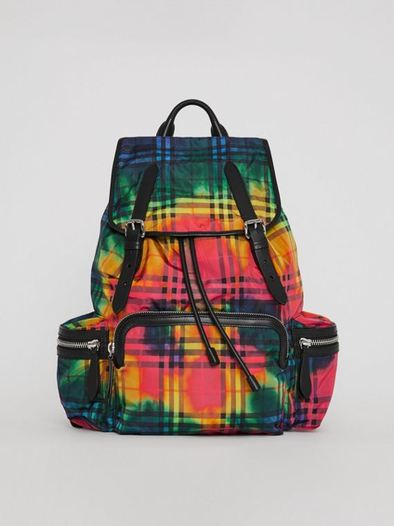 Grand sac The Rucksack à motif Vintage check tie-dye (Multicolore)