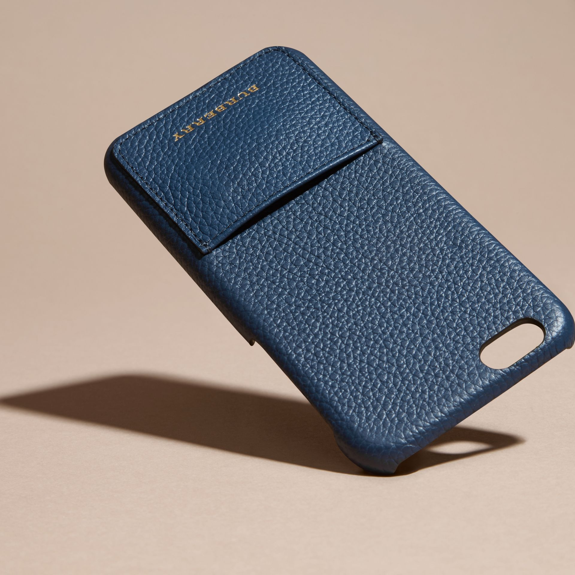 Grainy Leather iPhone 6 Case in Bright Navy | Burberry - gallery image 3