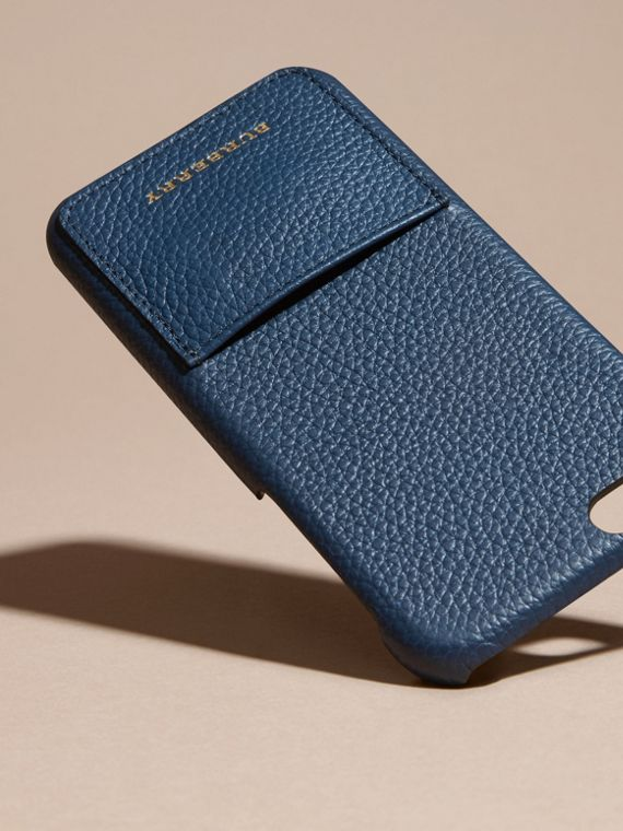 Grainy Leather iPhone 6 Case in Bright Navy | Burberry - cell image 2