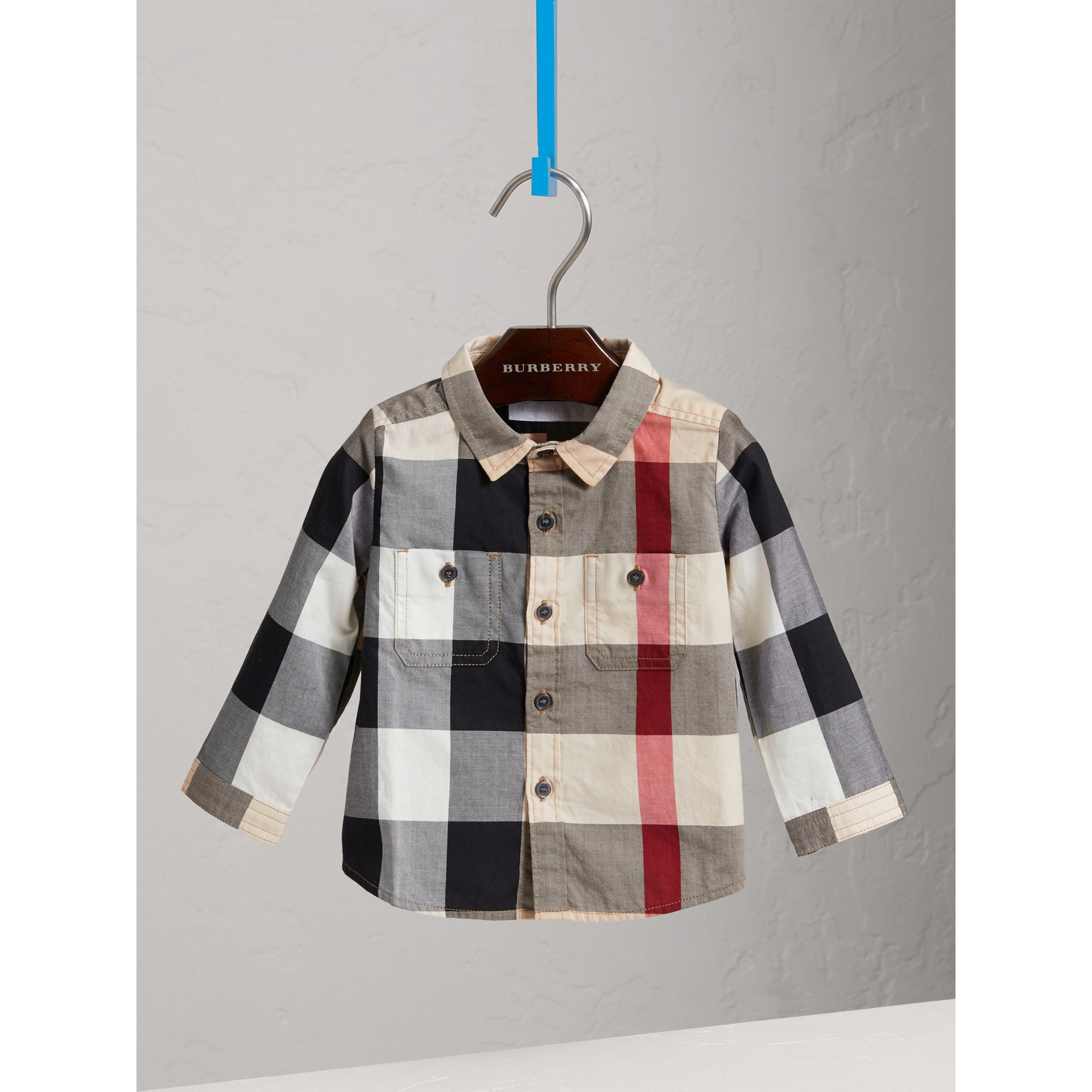 Check Cotton Shirt in New Classic - Boy | Burberry Singapore - gallery image 2