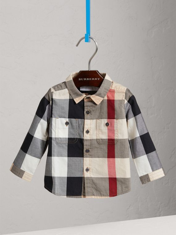 Check Cotton Shirt in New Classic - Boy | Burberry Singapore - cell image 2