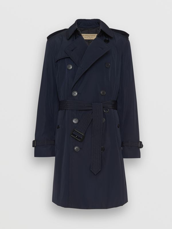 Quilt-lined Nylon Trench Coat in Ink - Men | Burberry - cell image 3