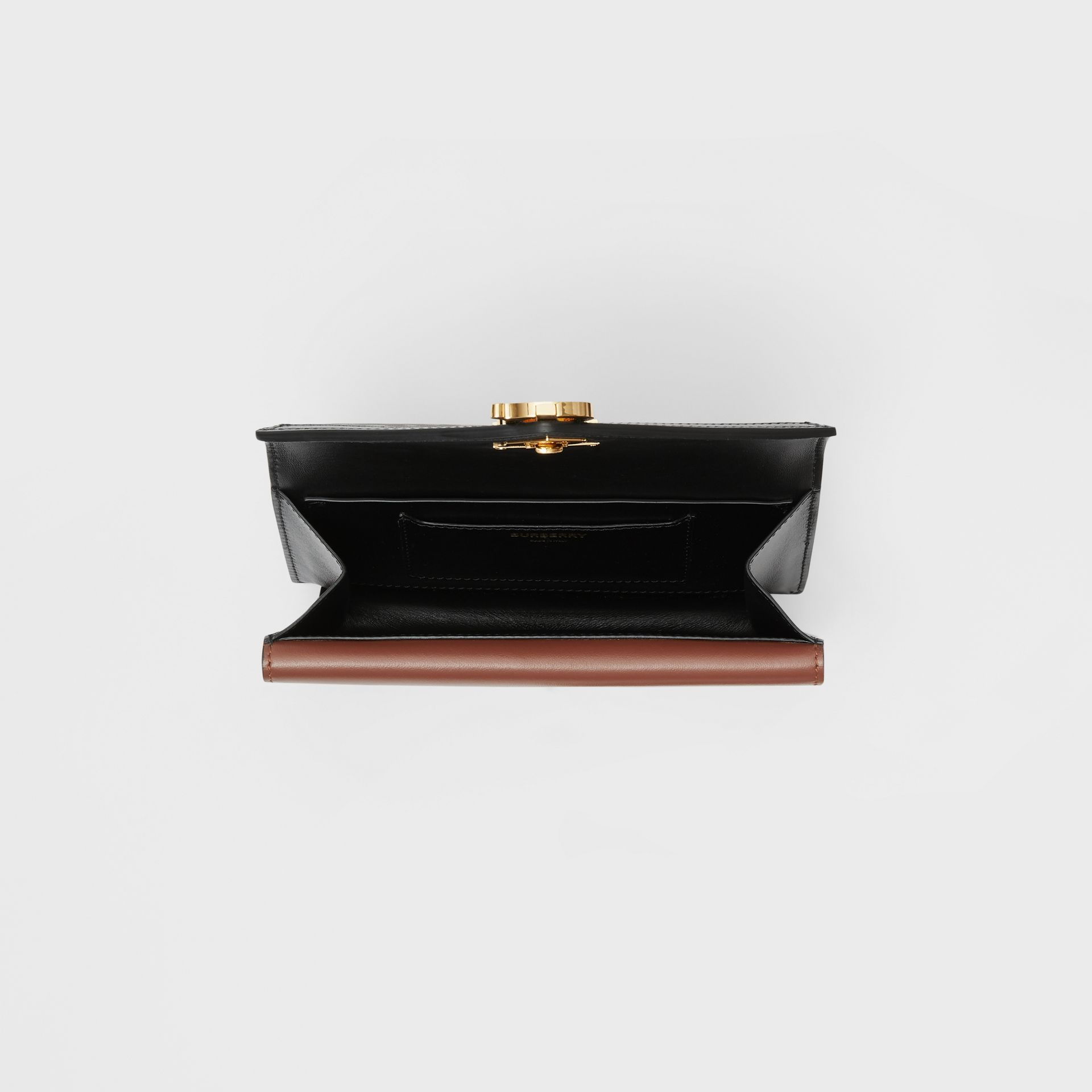 Belted Monogram E-canvas TB Envelope Clutch in Bridle Brown - Women | Burberry - gallery image 8