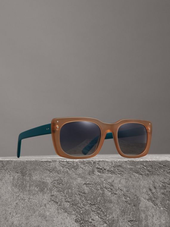 Square Frame Sunglasses in Nude