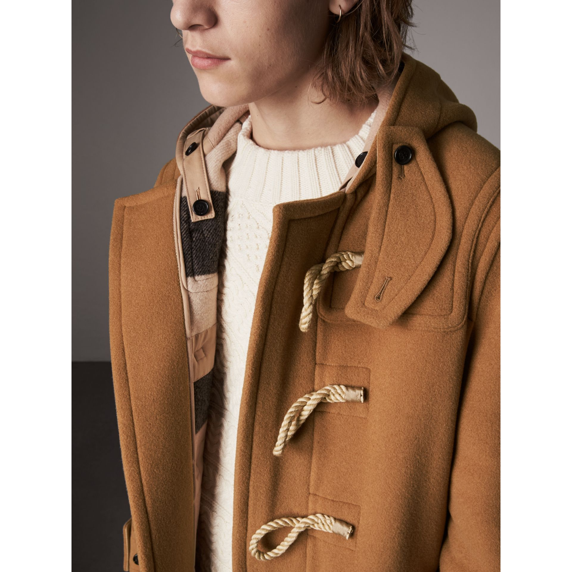 Duffle-coat The Greenwich (Camel Moyen) - Homme | Burberry - photo de la galerie 1