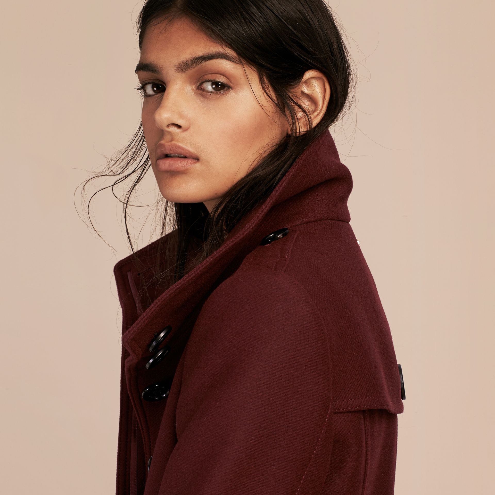 Garnet Technical Wool Cashmere Funnel Neck Coat - gallery image 5