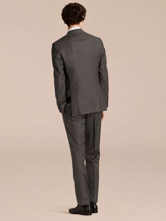 Dark grey melange Modern Fit Travel Tailoring Virgin Wool Suit - cell image 2