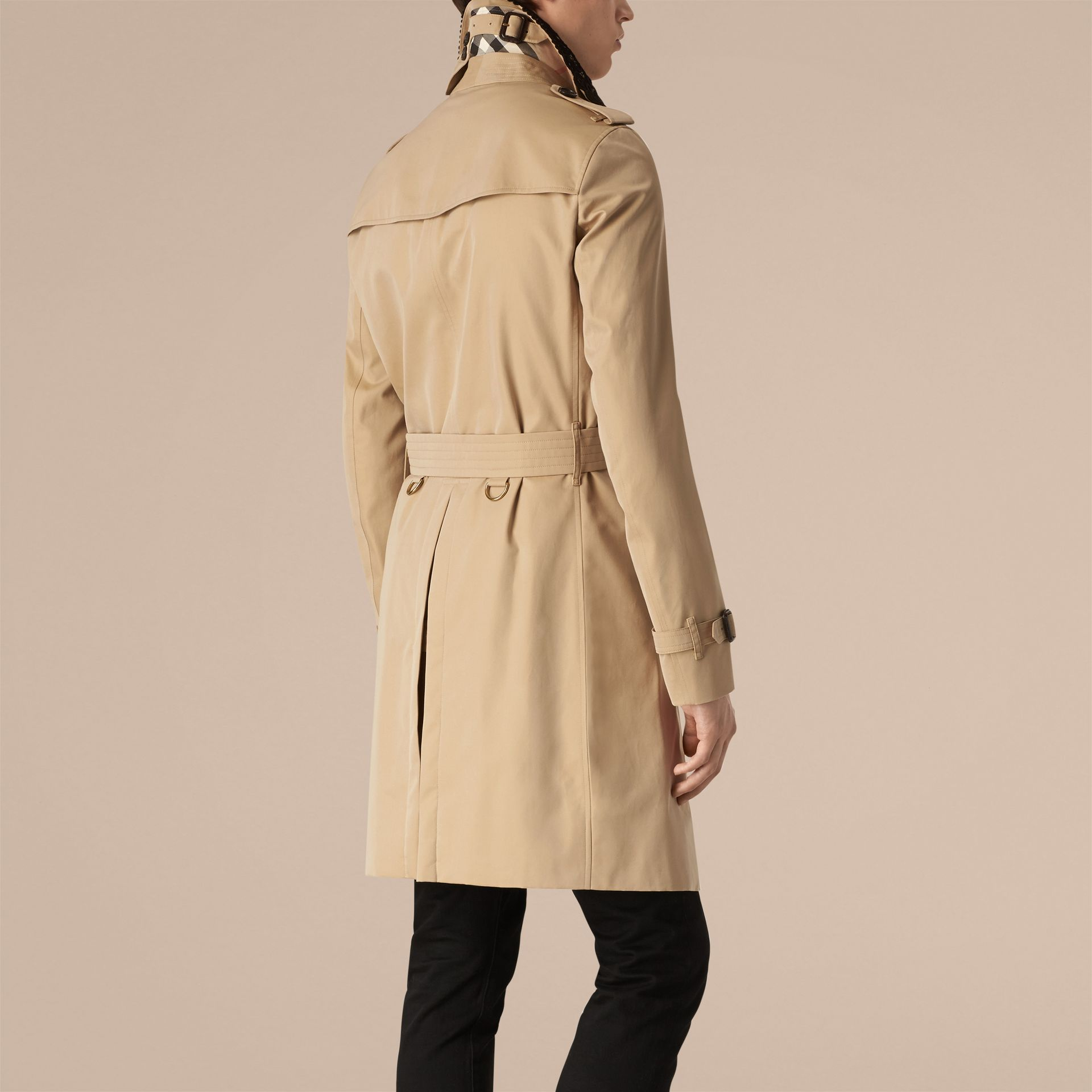 Honey The Chelsea – Gabardine Trench Coat with Lace Collar Honey - gallery image 2
