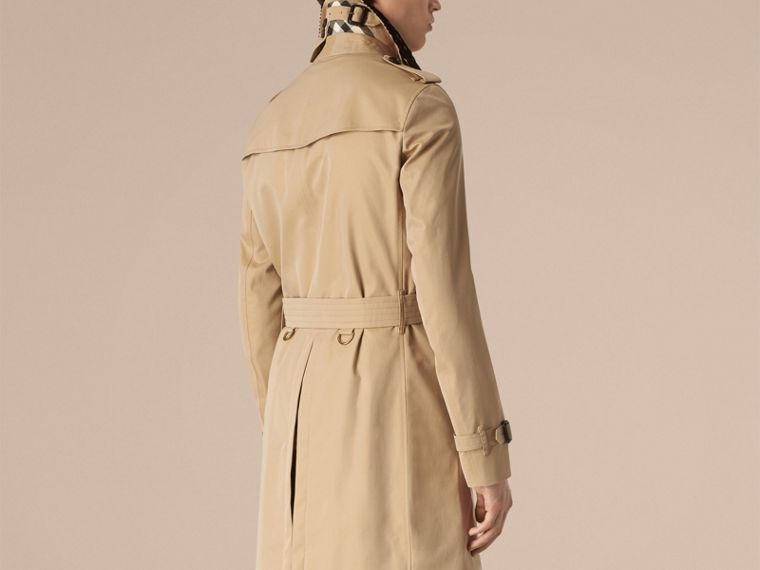 Honey The Chelsea – Gabardine Trench Coat with Lace Collar Honey - cell image 1