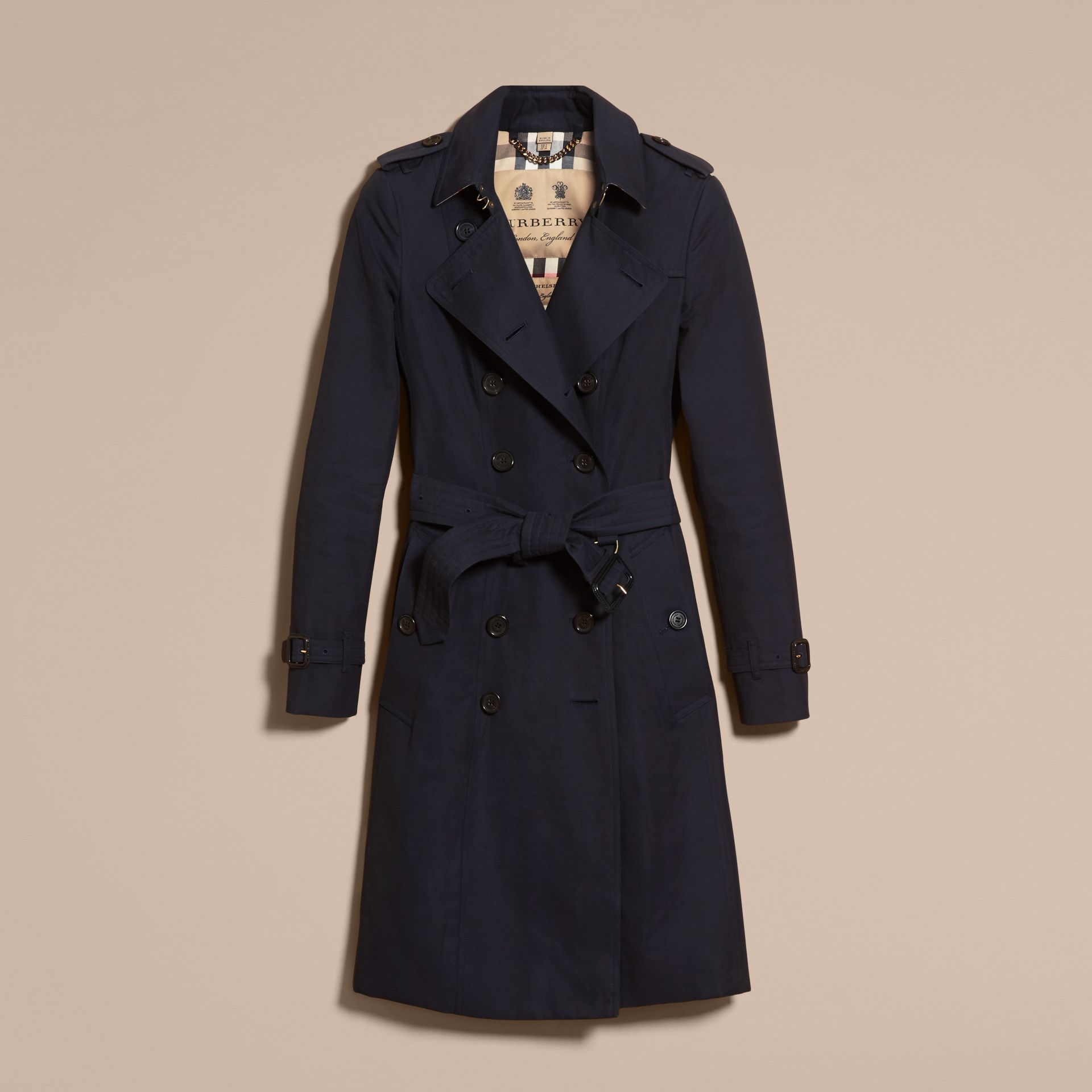 Navy The Chelsea - Trench coat Heritage lungo Navy - immagine della galleria 4