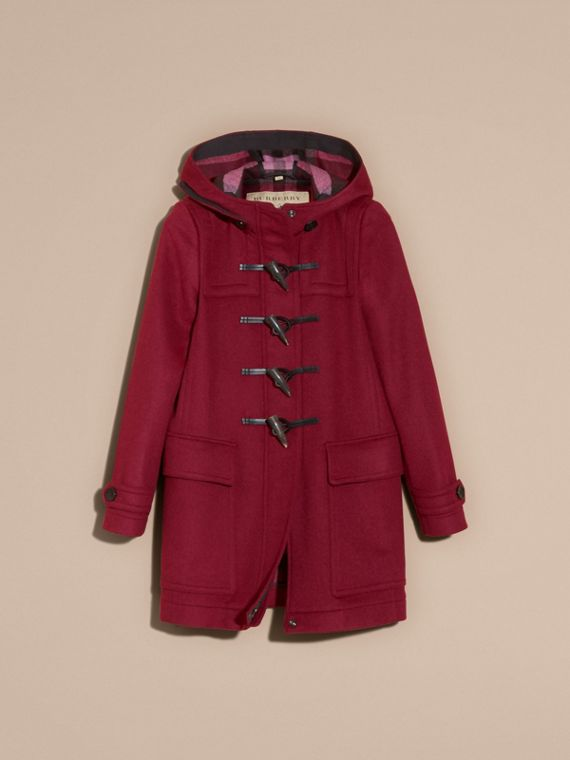Dark plum Wool Duffle Coat - cell image 3