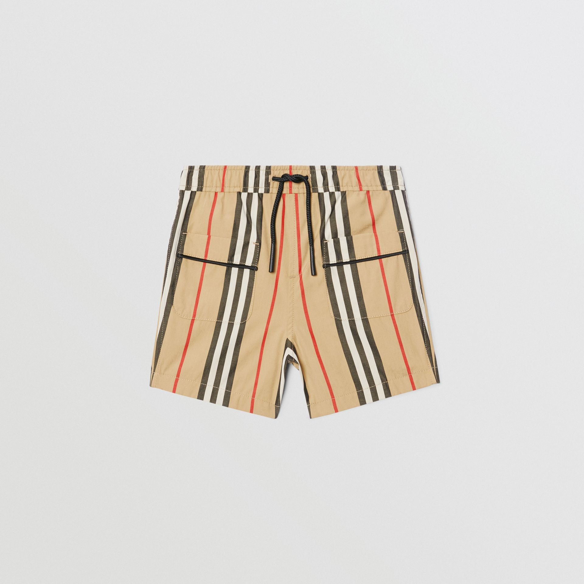 Icon Stripe Cotton Poplin Shorts in Archive Beige | Burberry - gallery image 0