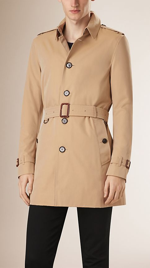 Honey Cotton Gabardine Trench Coat - Image 1