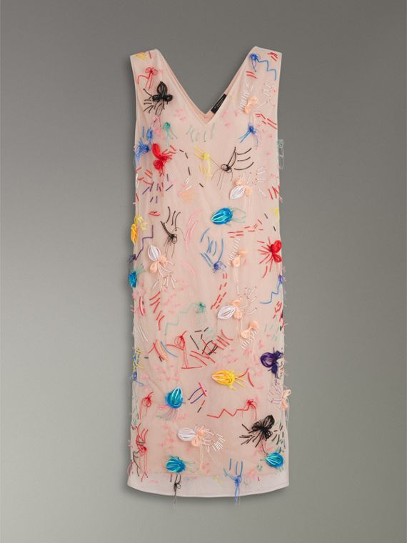 Embellished Sleeveless Dress in Multi-bright Pink - Women | Burberry - cell image 3