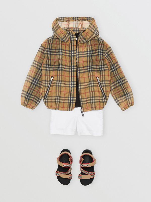 Lightweight Vintage Check Hooded Jacket in Antique Yellow | Burberry - cell image 3