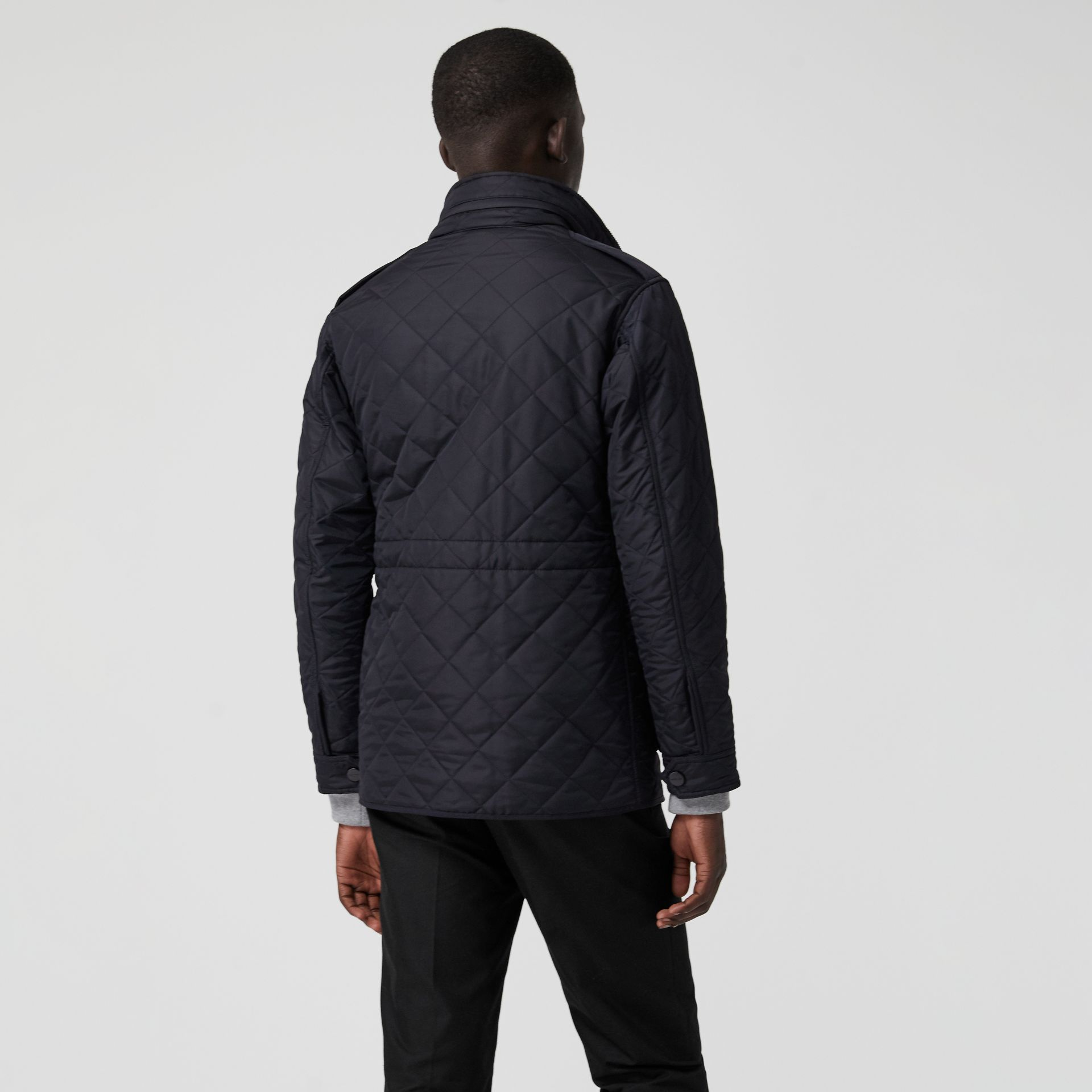 Diamond Quilted Thermoregulated Field Jacket in Navy - Men | Burberry United States - gallery image 2