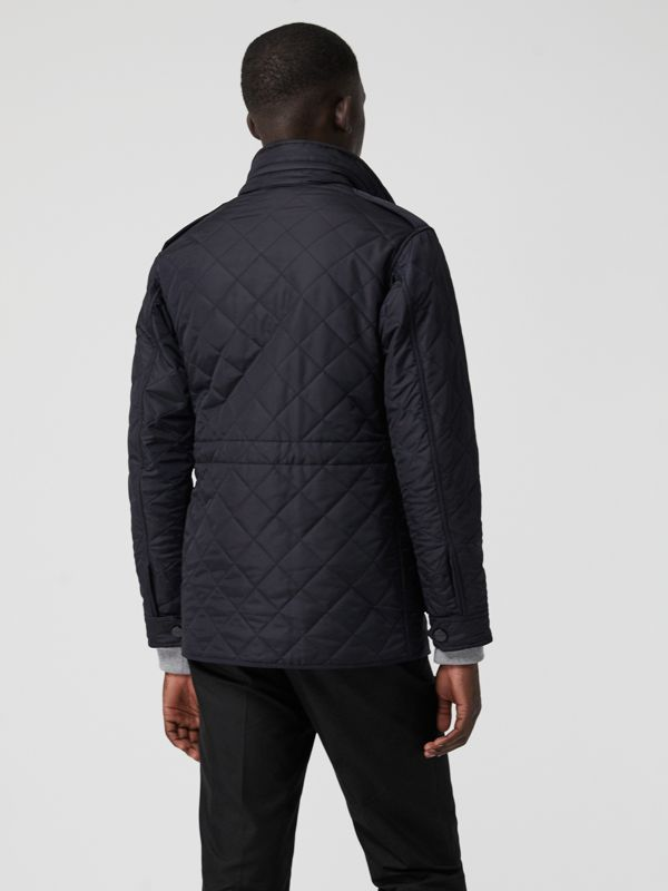 Diamond Quilted Thermoregulated Field Jacket in Navy - Men | Burberry - cell image 2