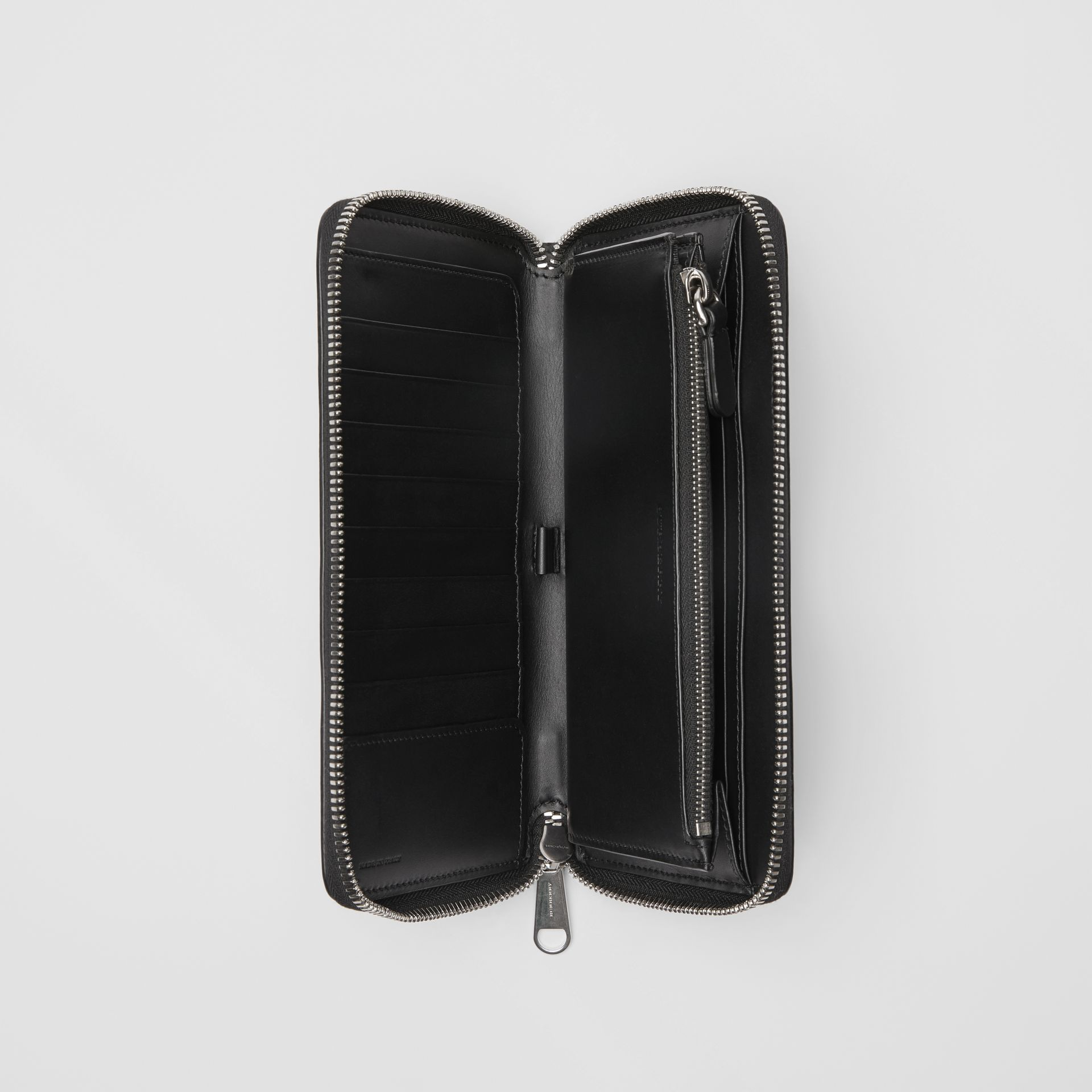 London Leather Ziparound Wallet in Black - Men | Burberry Singapore - gallery image 3