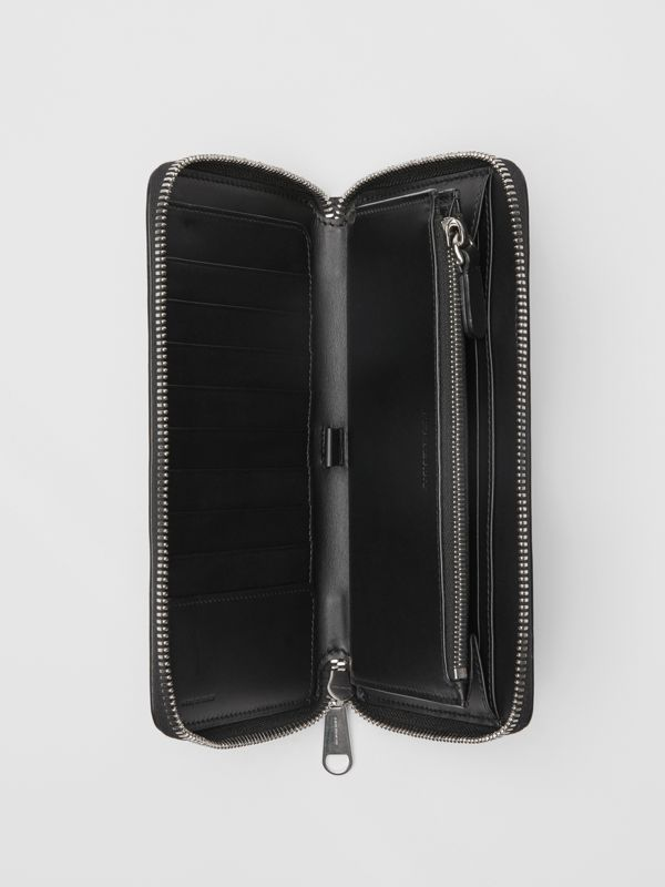 London Leather Ziparound Wallet in Black - Men | Burberry Singapore - cell image 3