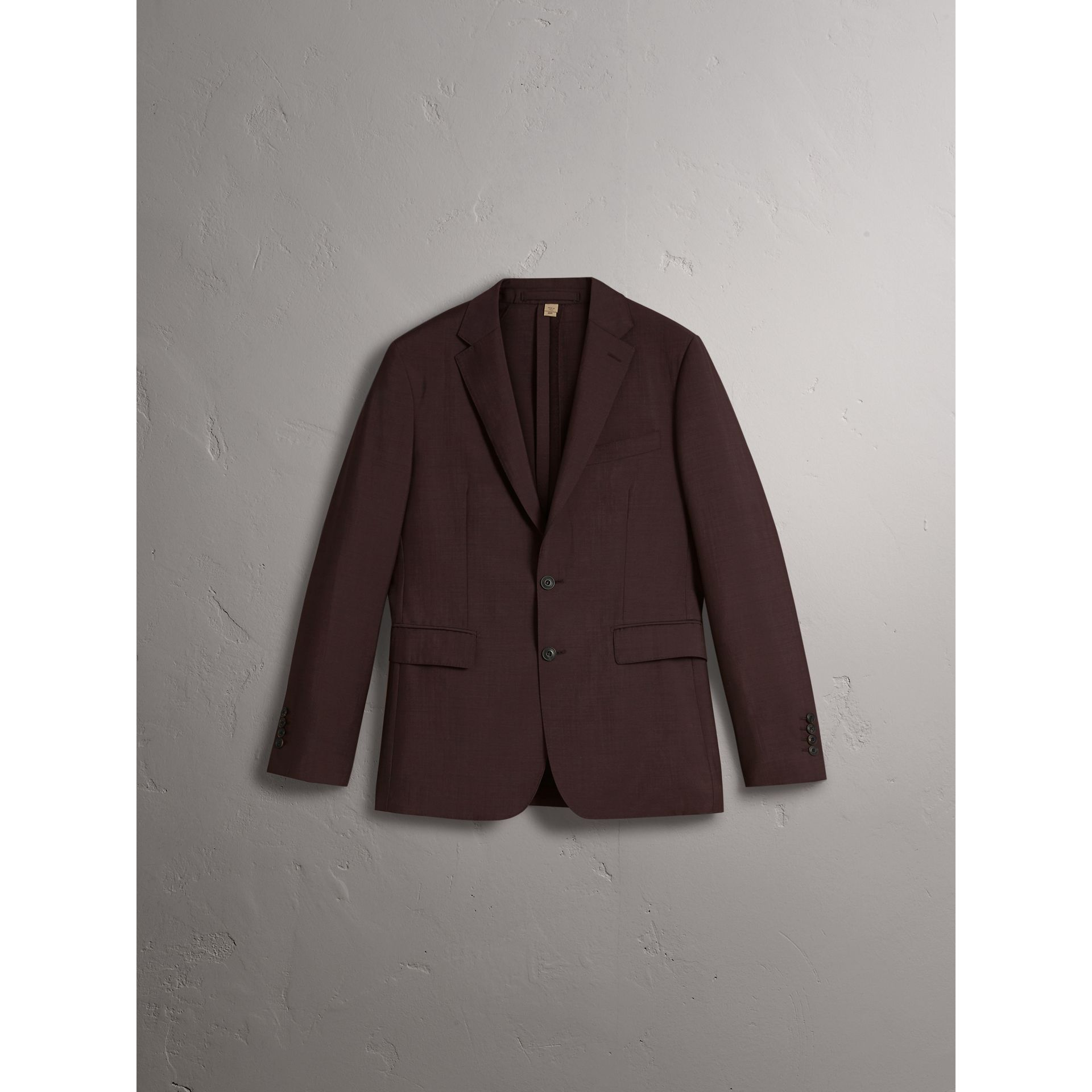 Soho Fit Wool Mohair Suit in Chestnut Brown - Men | Burberry - gallery image 4