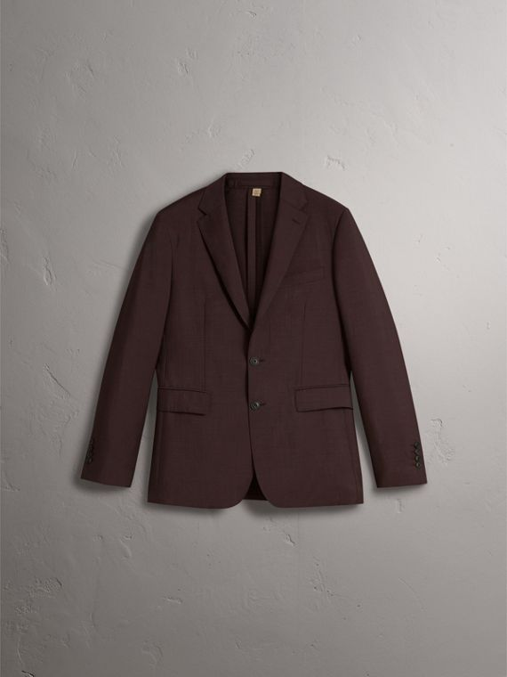 Soho Fit Wool Mohair Suit in Chestnut Brown - Men | Burberry - cell image 3