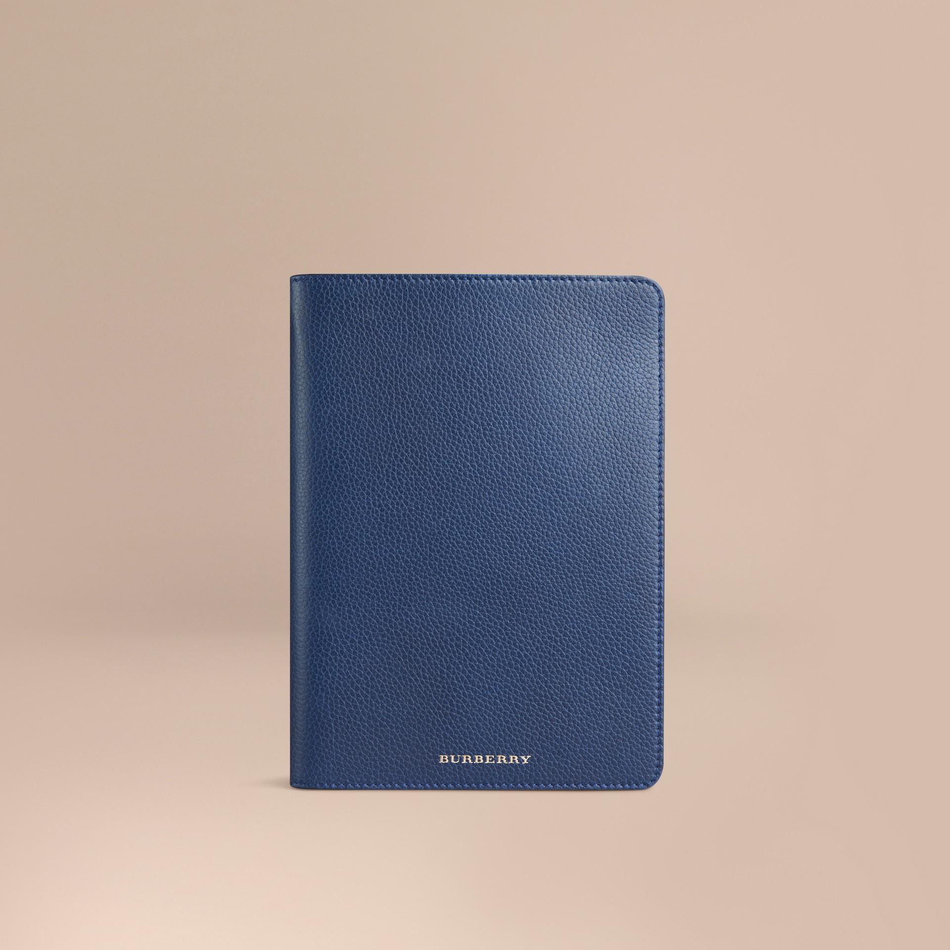 Marine vif Étui pour iPad mini en cuir grainé Marine Vif - photo de la galerie 1