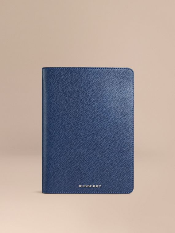 Custodia per iPad mini in pelle a grana Navy Intenso