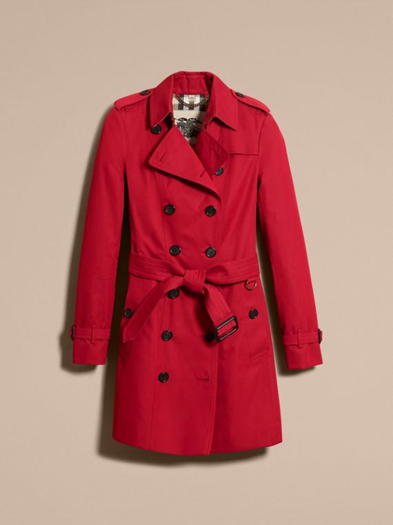 Parade red The Sandringham – Mid-length Heritage Trench Coat Parade Red - cell image 3