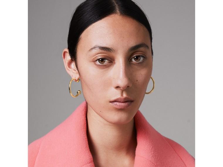 Créoles plaquées or avec charme en cristal (Clair/cristal) - Femme | Burberry Canada - cell image 4