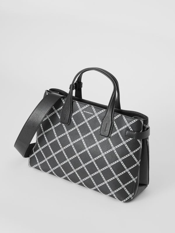 The Medium Banner in Link Print Leather in Black - Women | Burberry - cell image 2